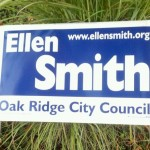 Ellen Smith for Oak Ridge City Council yard sign